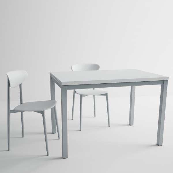 Table de cuisine en verre avec rallonge - hauteur 75 cm - Toy métal 2 - 2
