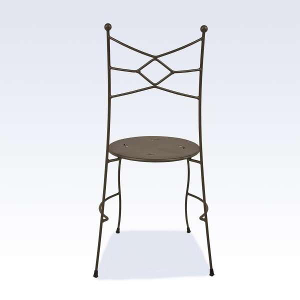 Chaise de salle à manger en métal - Seringua - 2