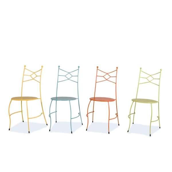 Chaise en métal colorée - Seringua - 6