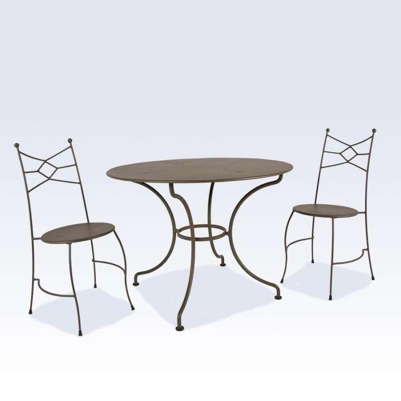 Chaise de jardin en métal - Seringua   4-pieds.com