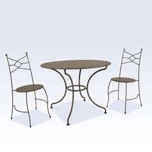 Table de jardin ronde en métal - Seringua