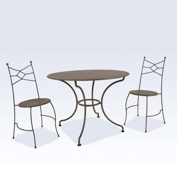 Table de jardin ronde en métal - Seringua Carrier®