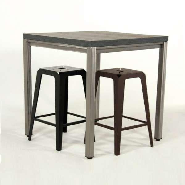 Table snack style industriel - Urane 4 - 4