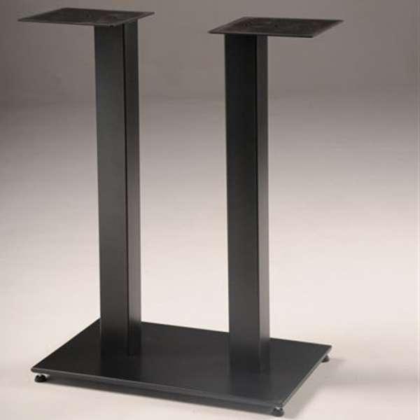 Pied de table central en métal noir - Square 650 - 1