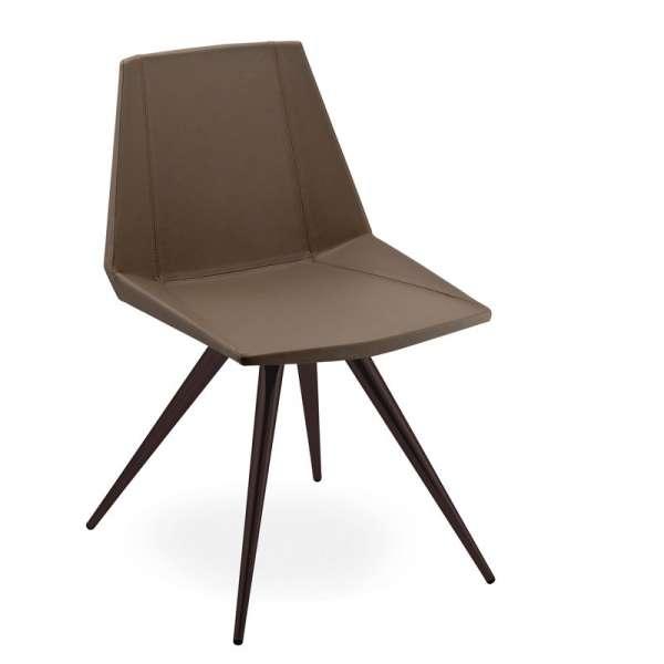 Chaise design en synthétique et métal - Glim 1361 - 1