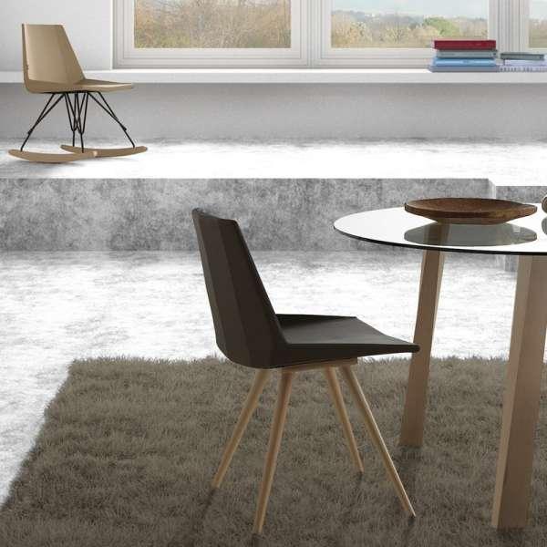 Chaise design en bois - Glim 1161 - 3