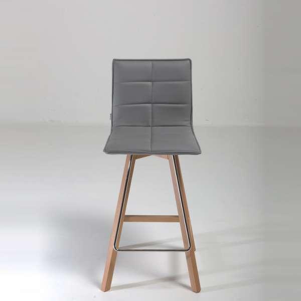 Tabouret snack design en bois et synthétique - Iris - 8