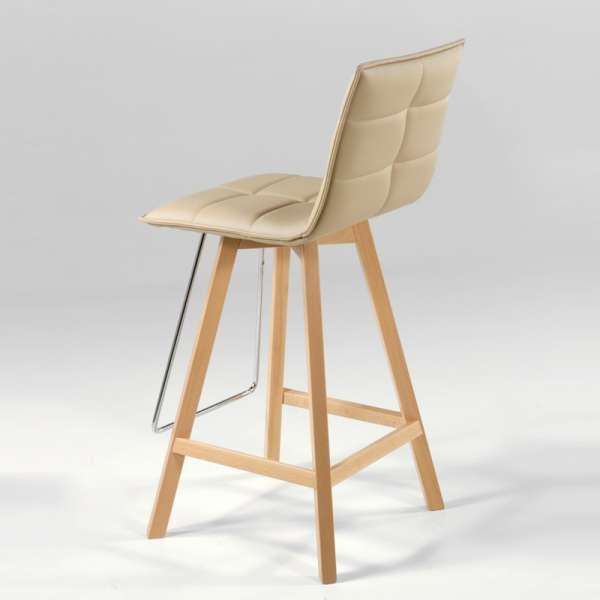 Tabouret design en bois - Iris - 3