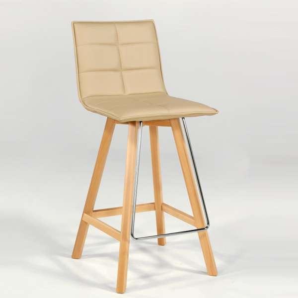 Tabouret snack moderne en bois et synthétique - Iris