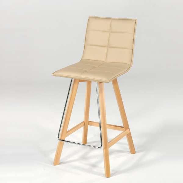 Tabouret en bois et synthétique - Iris - 6