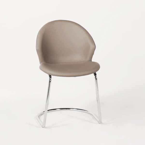 Chaise design en métal chromé - Jazz - 2