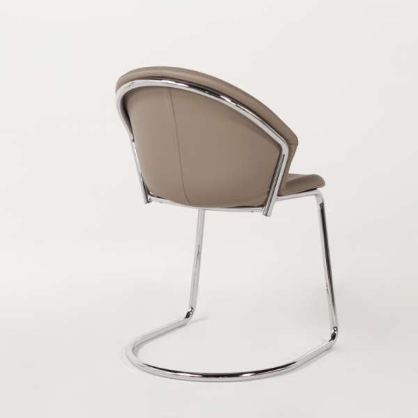 Chaise en métal chromé et synthétique - Jazz - 6