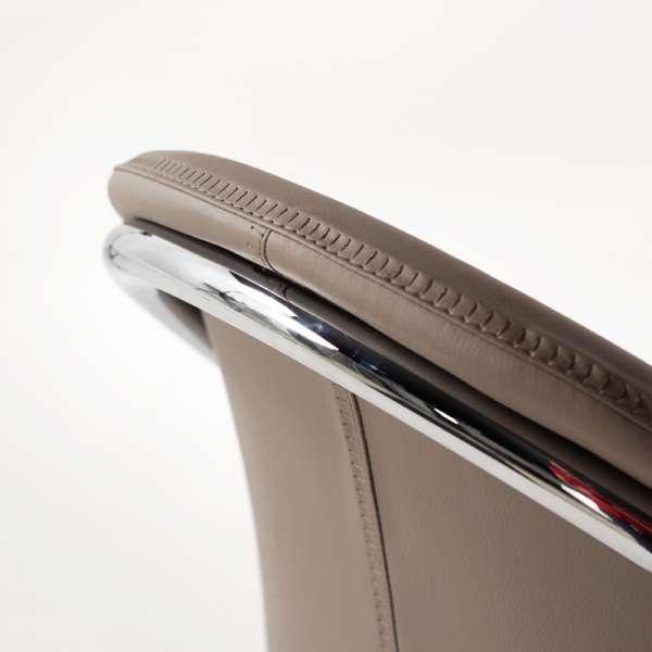 Chaise moderne en métal chromé et synthétique - Jazz - 9