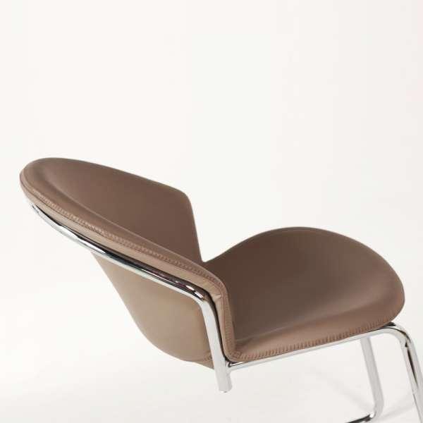 Chaise moderne en métal chromé - Jazz - 10