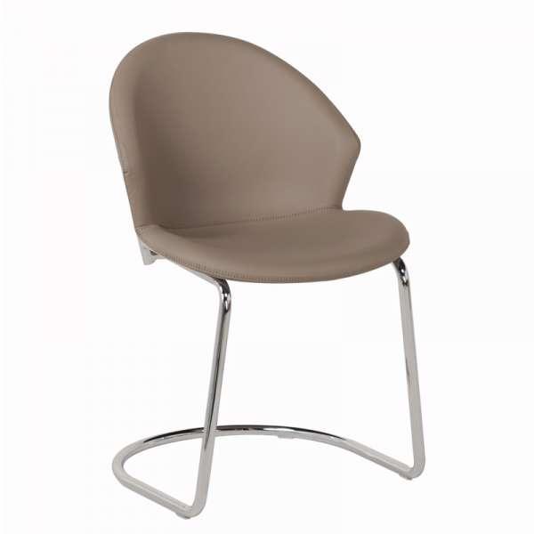 Chaise design en métal chromé et synthétique - Jazz - 1