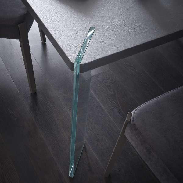 Table carrée design en ecomalta et verre - Concrete 3 - 3