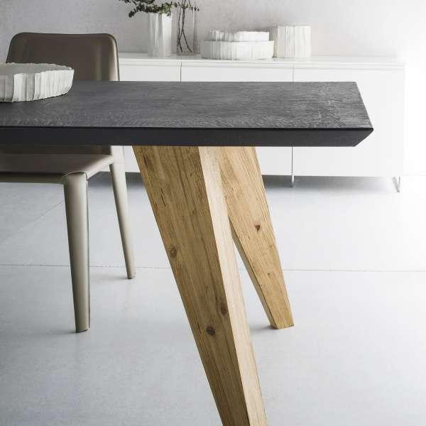 Table design rectangulaire en ecomalta et bois - Raw 3 - 3