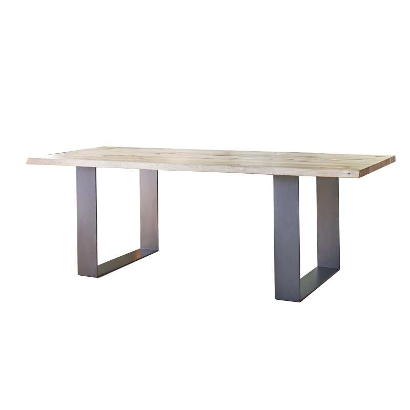 Table A Manger Industrielle Extensible.Table Rectangulaire Industrielle Extensible En Chene Massif Pieds Traineau Carte