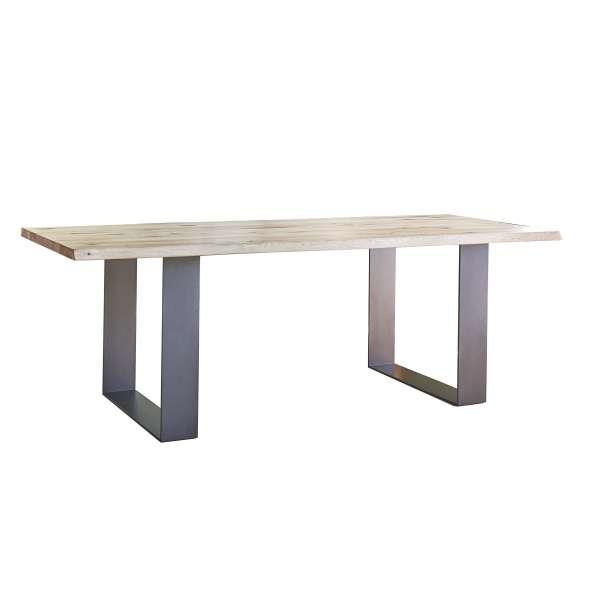 Table de séjour extensible en bois massif et métal - Carte - 3
