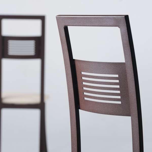 Chaise en métal et synthétique - Daphné - 3