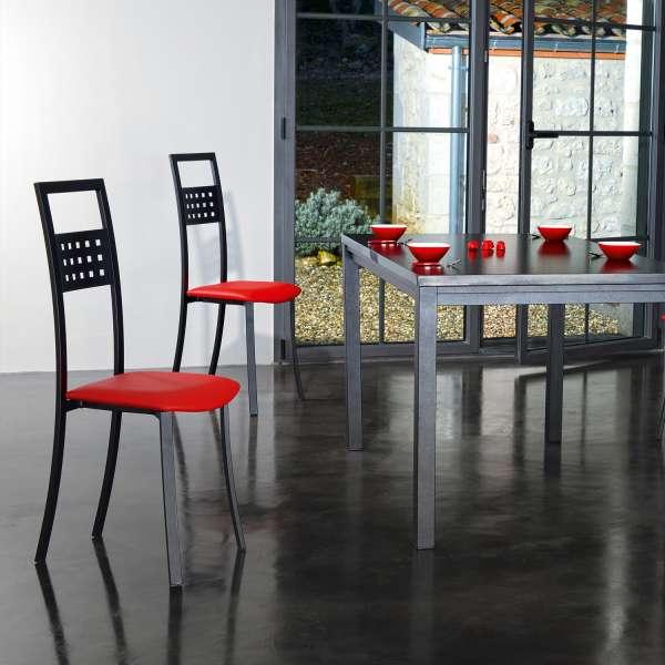 Chaise de cuisine en métal et synthétique - Daphné - 1