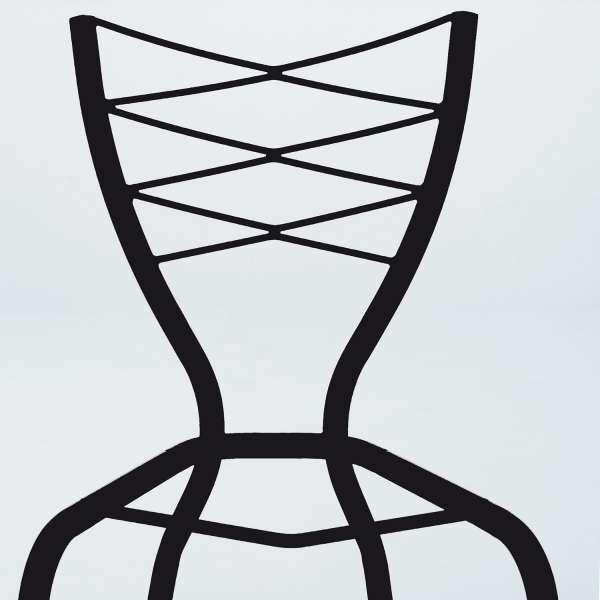Tabouret contemporain en synthétique et métal - Romance - 7