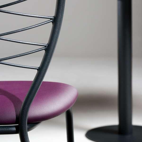 Chaise de cuisine en synthétique mauve et métal - Romance - 3
