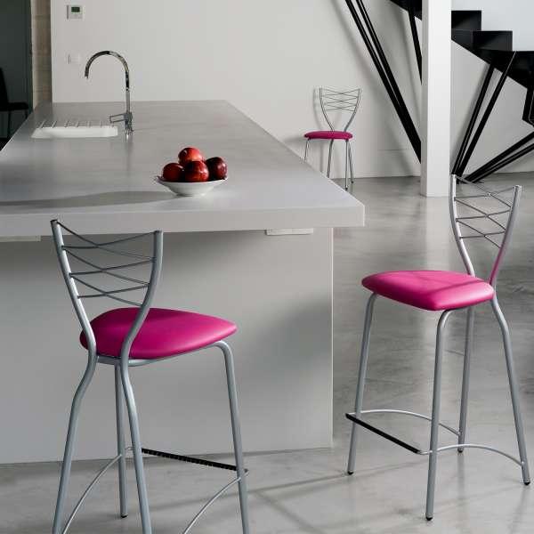Chaise de cuisine en synthétique et métal - Romance 5 - 4