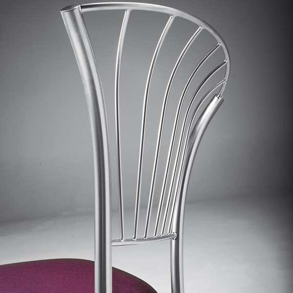 Chaise en vinyle violet et métal chromé - Solandre - 7