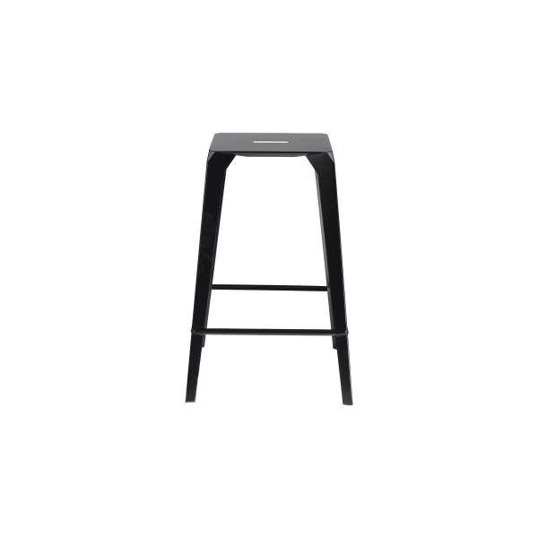 Tabouret style industriel métallique noir - Valence - 4
