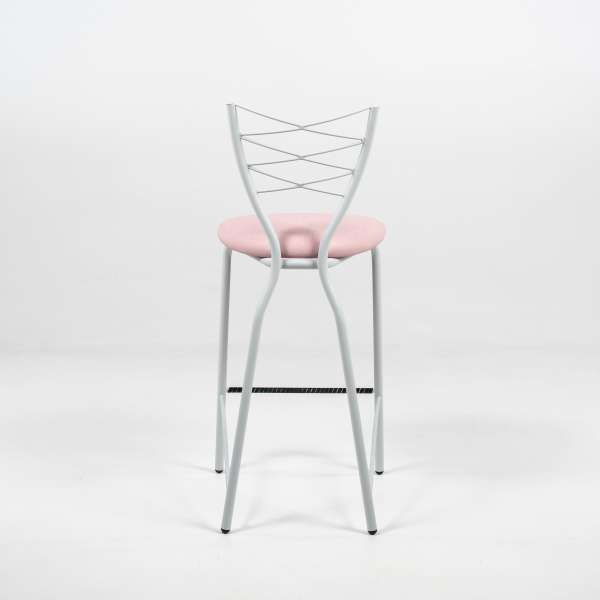 Tabouret rose et blanc - Romance - 12