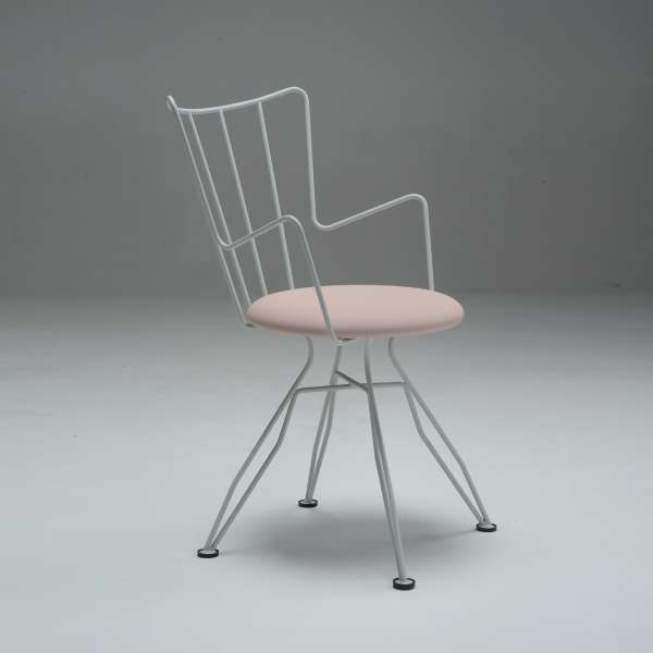 Chaise design blanche - Well - 13