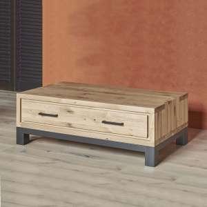 Table basse moderne avec tiroir en bois et métal - Forest