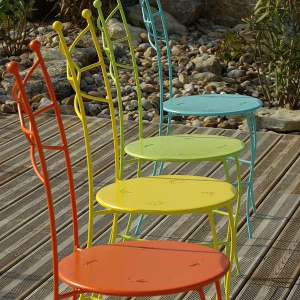 Chaise d'intérieur colorée en métal - Seringua - 4