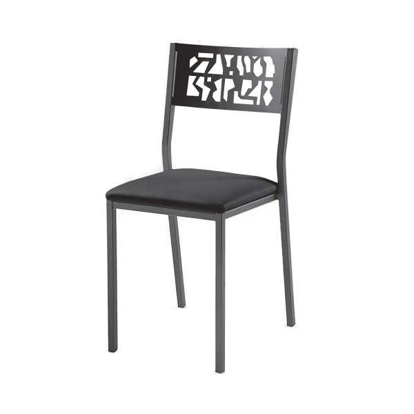 Chaise en métal style industriel assise rembourrée - Slide Industrie - 2