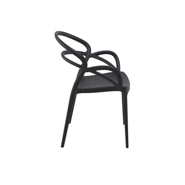 Fauteuil design noir - Mila - 10