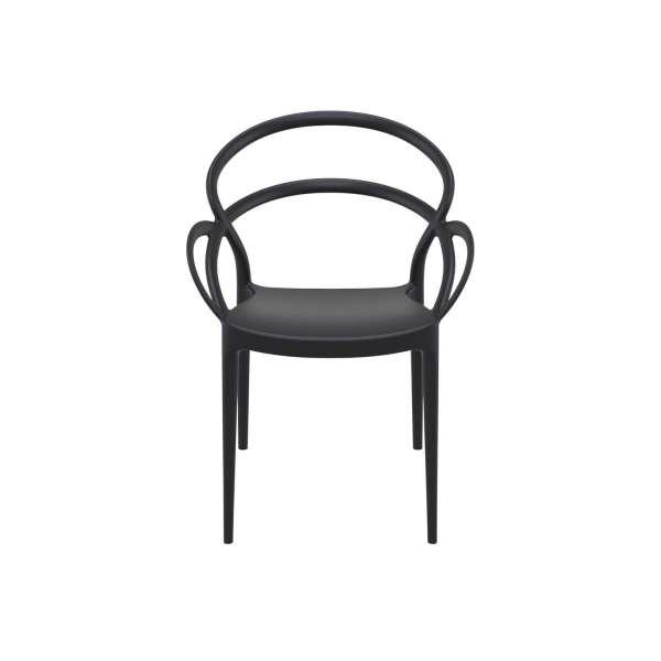 Fauteuil de jardin noir - Mila - 5