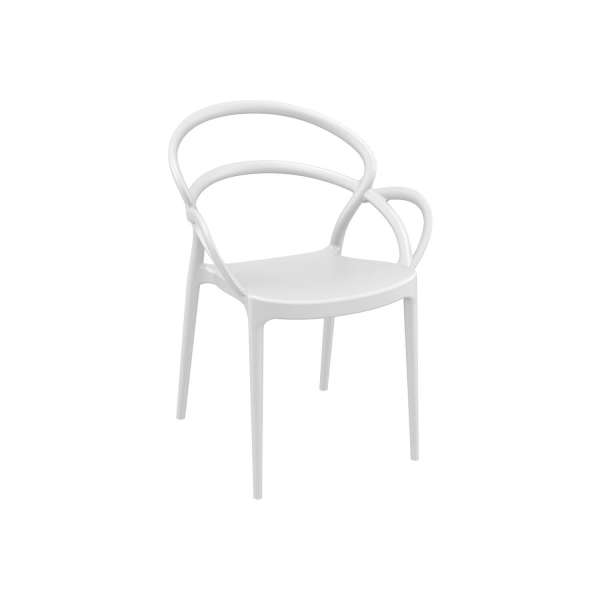 Fauteuil de jardin design en polypropylène blanc - Mila - 12
