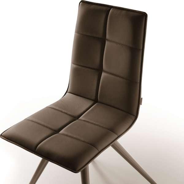 Chaise de séjour moderne en synthétique et métal - Gliris - 3