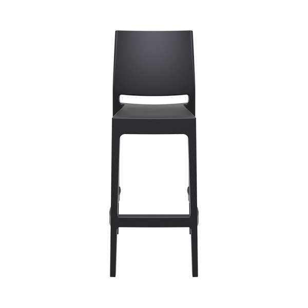 Tabouret empilable de bar en plastique noir - Maya - 9
