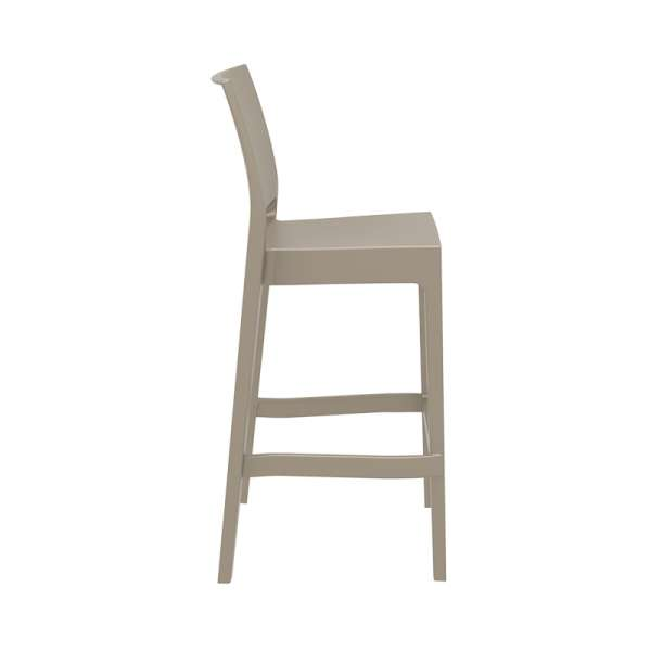 Tabouret de bar coloris taupe- Maya - 20