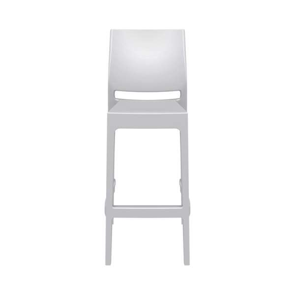 Tabouret de bar en plastique blanc empilable - Maya - 24