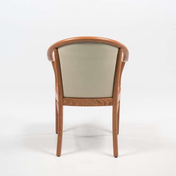 Fauteuil italien beige en bois avec assise et dossier rembourrés - Manuela - 10