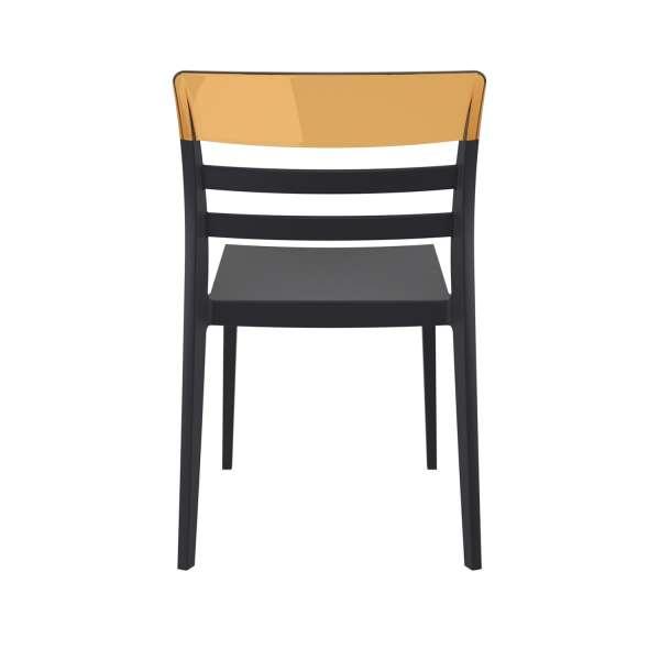 Chaise moderne en polypropylène noir et polycarbonate ambre - Moon - 8