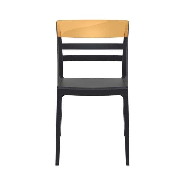 Chaise en polypropylène noir et polycarbonate ambre - Moon - 10