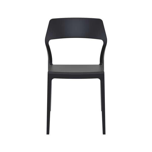 Chaise empilable design noire - Snow - 10