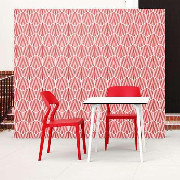 Chaise design en polypropylène rouge - Snow - 6