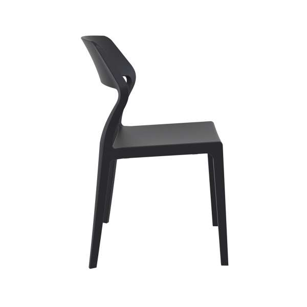 Chaise de terrasse empilable design en polypropylène noir - Snow - 10