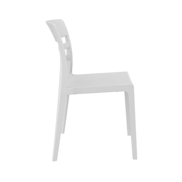 Chaise en plastique blanc - Moon - 23