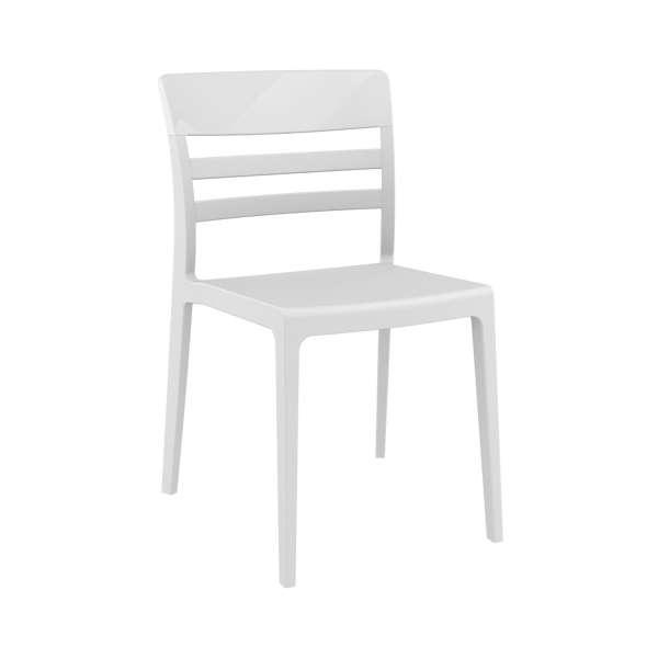 Chaise en polypropylène et polycarbonate blanc - Moon - 22